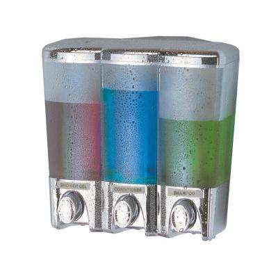 Clear Choice Three Chamber Dispenser in Chrome