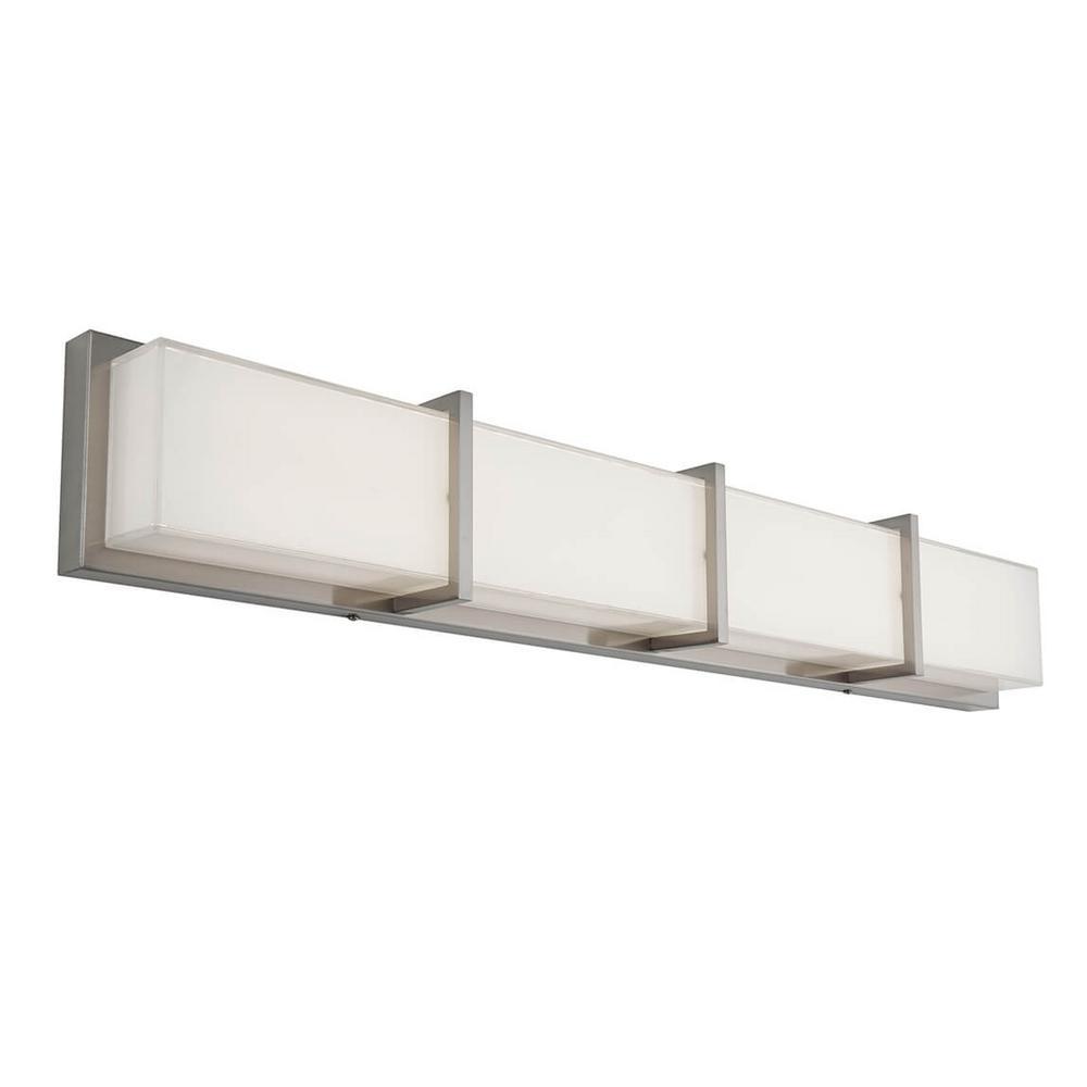 Artika Subway 35 In Stainless Steel Led Vanity Light Bar