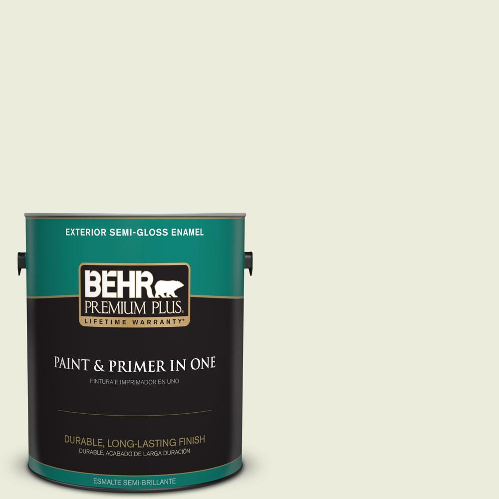 1-gal. #M350-1 Grass Root Semi-Gloss Enamel Exterior Paint