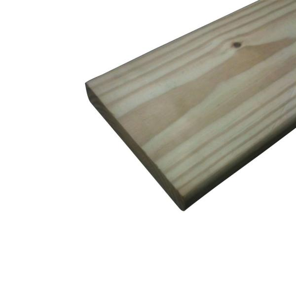 5/4 in. x 6 in. x 12 ft. Pressure-Treated Premium SYP Ground Contact Decking Board