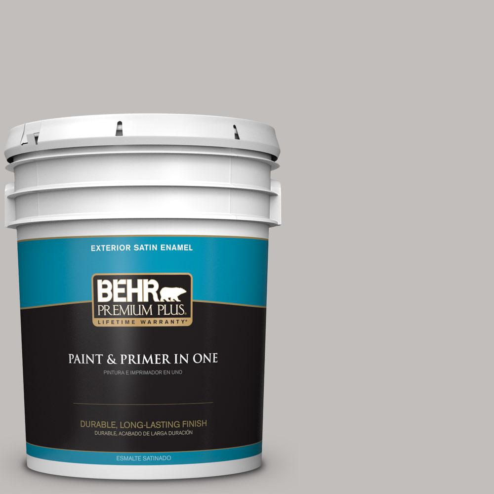 5 gal. #HDC-WR15-3 Noble Gray Satin Enamel Exterior Paint