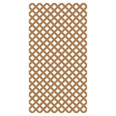 0.2 in. x 48 in. x 8 ft. Sierra Cedar Vinyl Classic Diamond Lattice