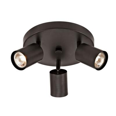Muholi 8.5 in. 3-Light Oil-Rubbed Bronze Traditional Canopy Track Lighting Kit with 3 x GU10 Halogen Bulb Included