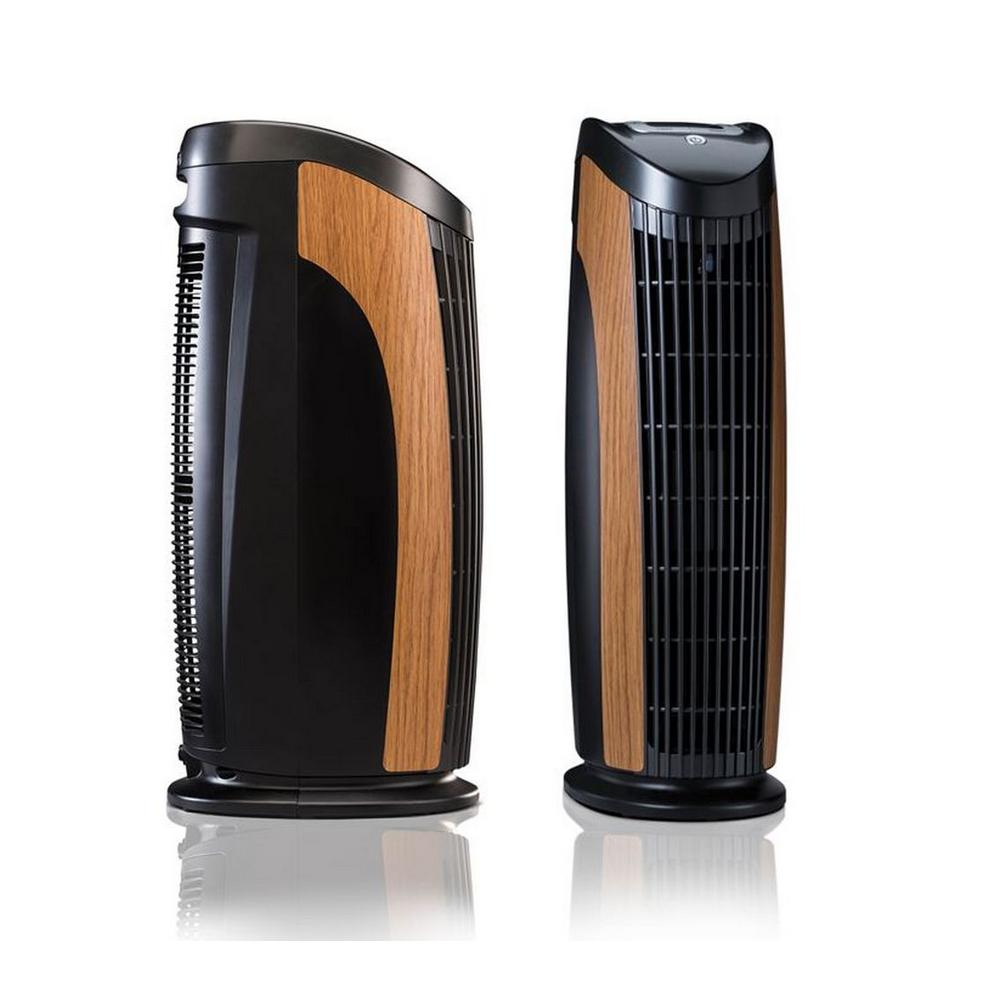 T500 Designer Tower Air Purifier with HEPA-Pure Filter to Remove Allergies