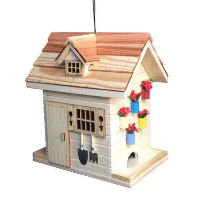 Garden Shed Backyard Birdfeeder