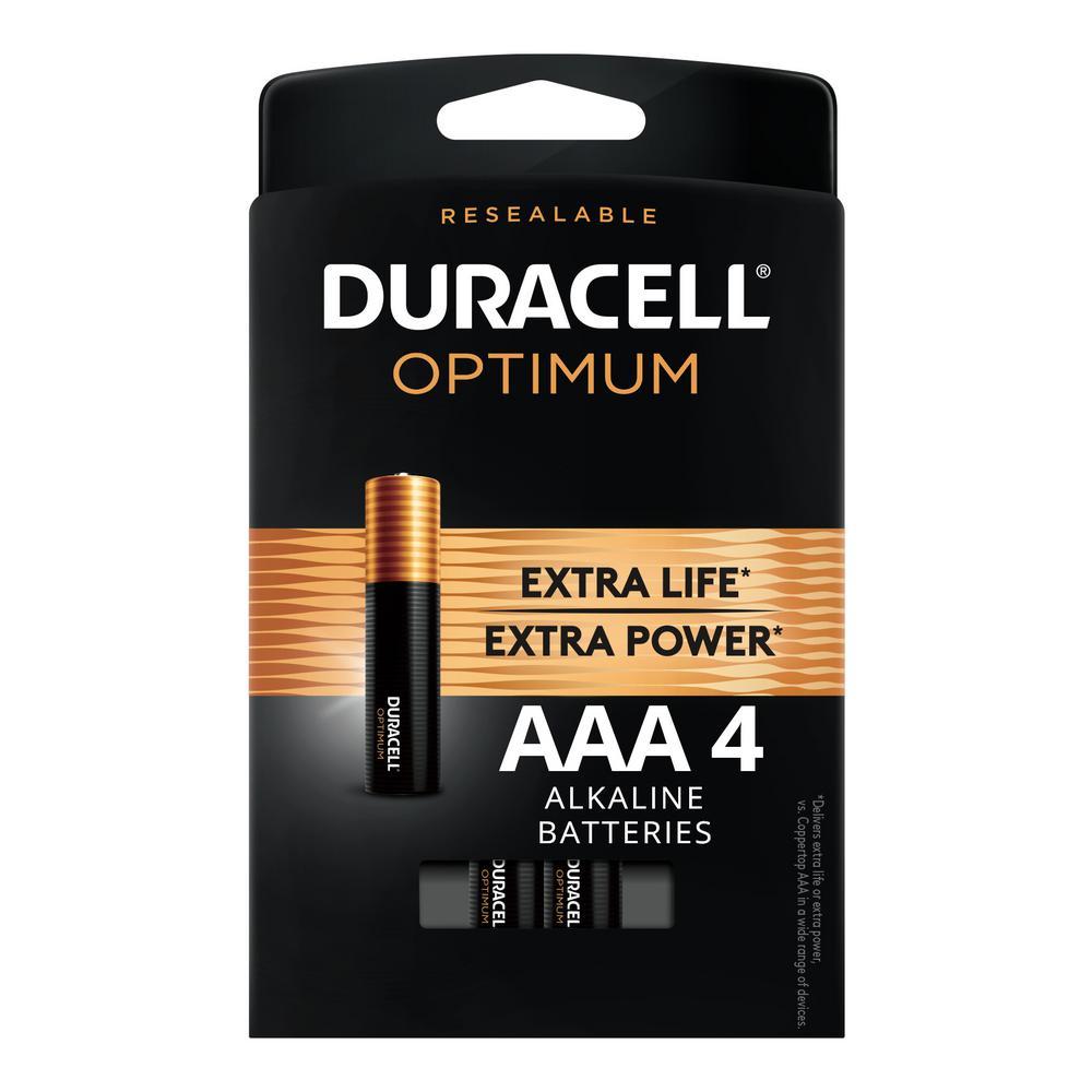 Duracell Optimum AAA Alkaline Battery (4-Pack)