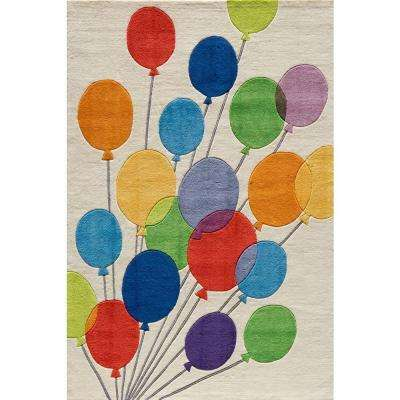 Caprice Balloons Ivory 4 ft. x 6 ft. Indoor Area Rug