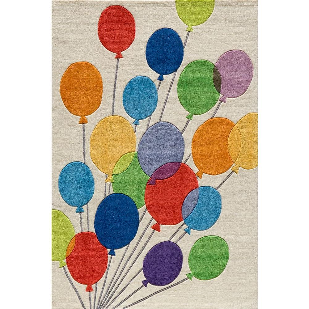 Momeni Caprice Balloons Ivory 8 ft. x 10 ft. Indoor Area Rug