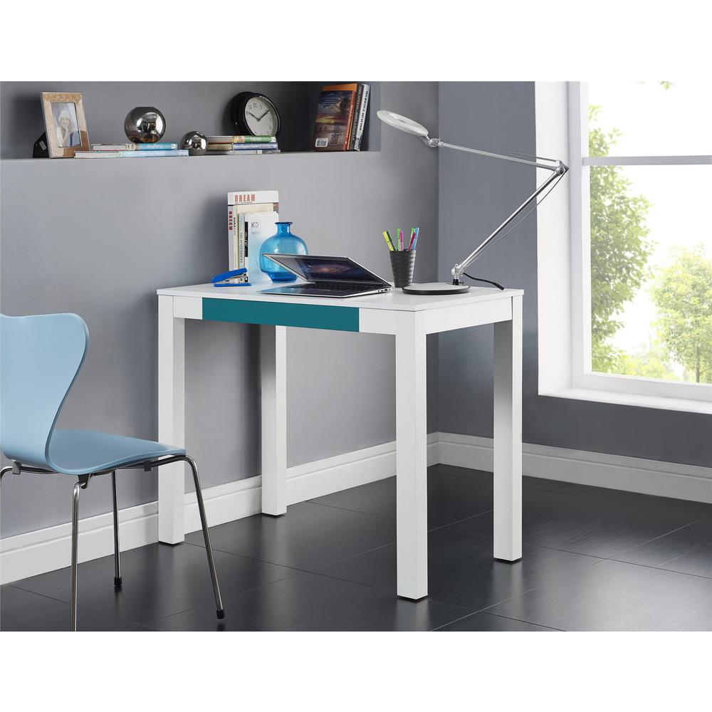 Ameriwood Home Nelson White And Gray Desk With Storage Hd55111 The Depot