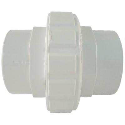 1-1/2 in. Socket x 2 in. SLIP Flush Female Union in White