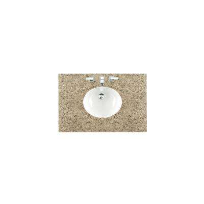 36 in. W Granite Single Basin Vanity Top in Santa Cecilia