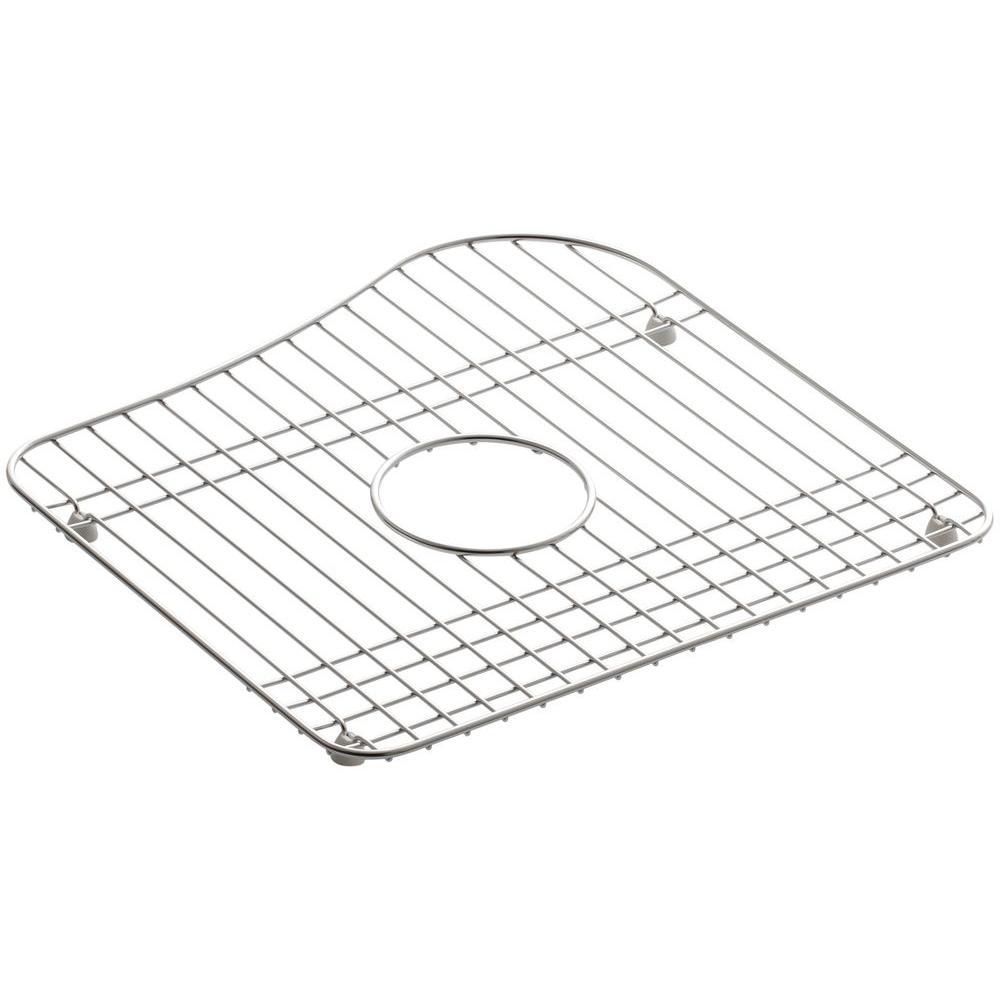 KOHLER Staccato 15 in. x 15-7/16 in. Sink Basin Rack in Stainless Steel