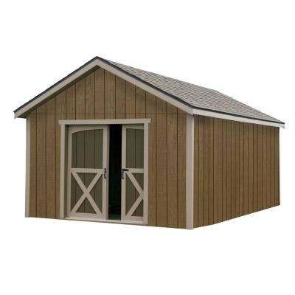 North Dakota 12 ft. x 16 ft. Wood Storage Shed Kit