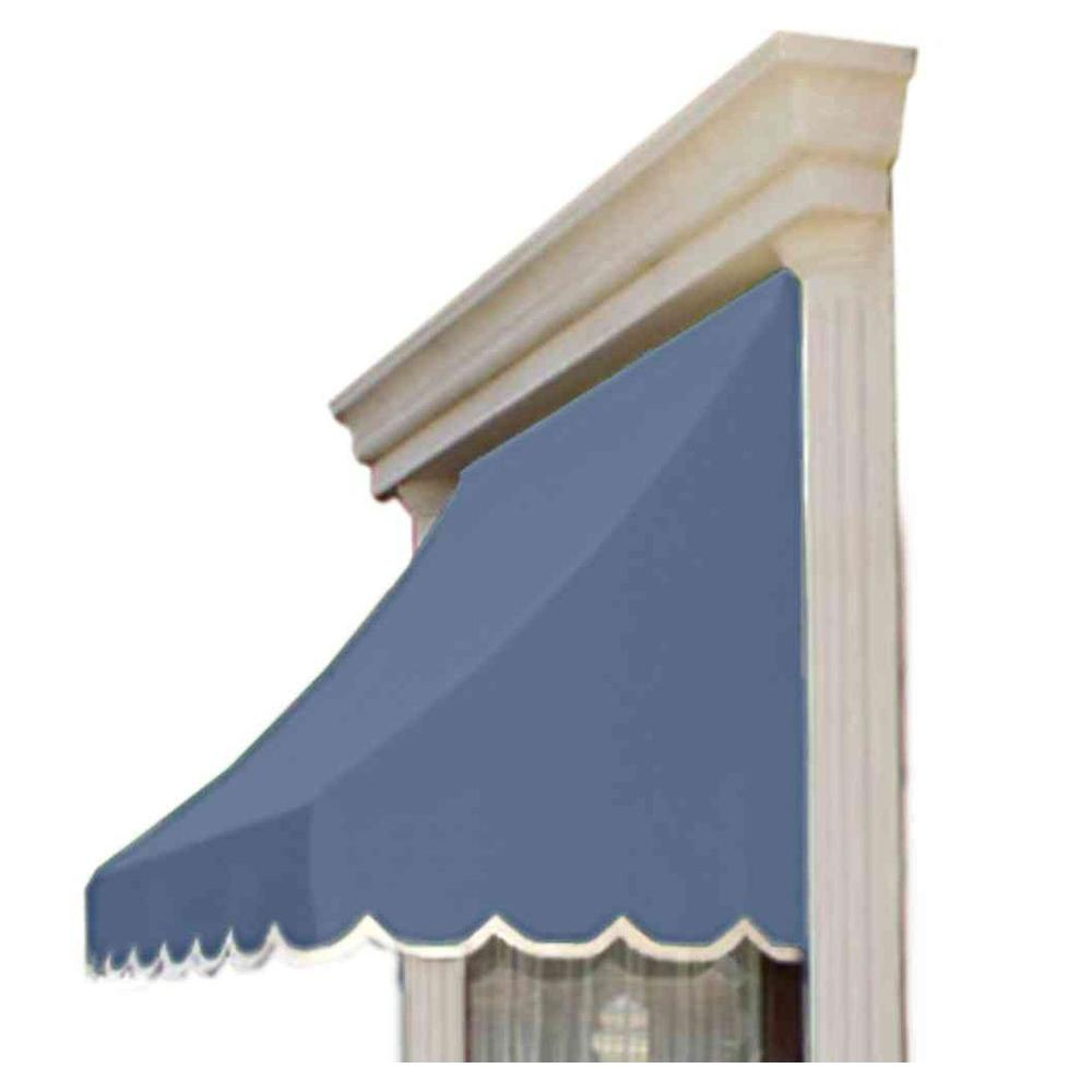 AWNTECH 8 ft. Nantucket Window/Entry Awning (56 in. H x 48 in. D) in Dusty Blue