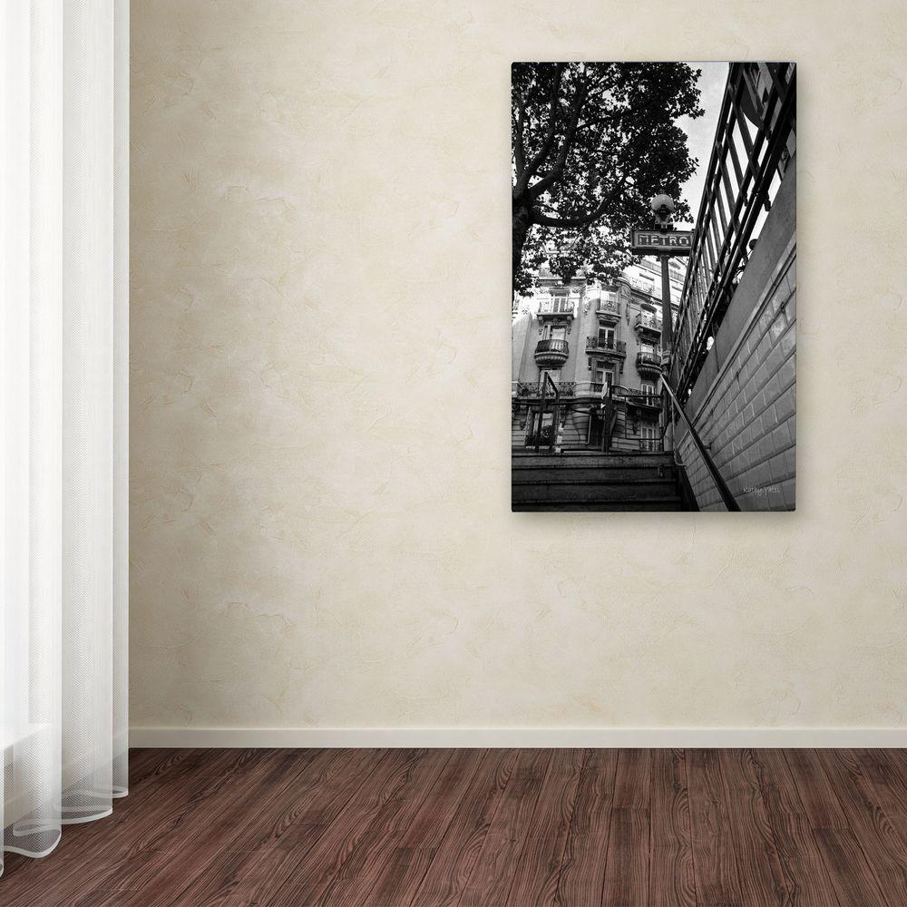 null 32 in. x 22 in. Le Metro From Below Canvas Art