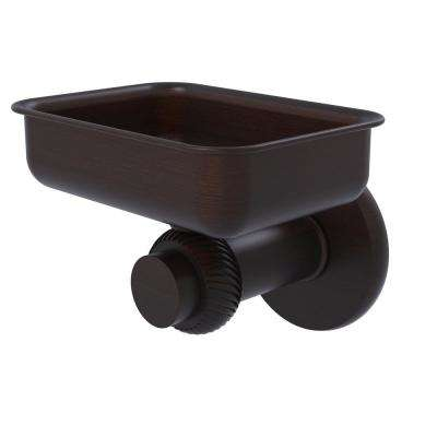 Mercury Collection Wall Mounted Soap Dish with Twisted Accents in Venetian Bronze