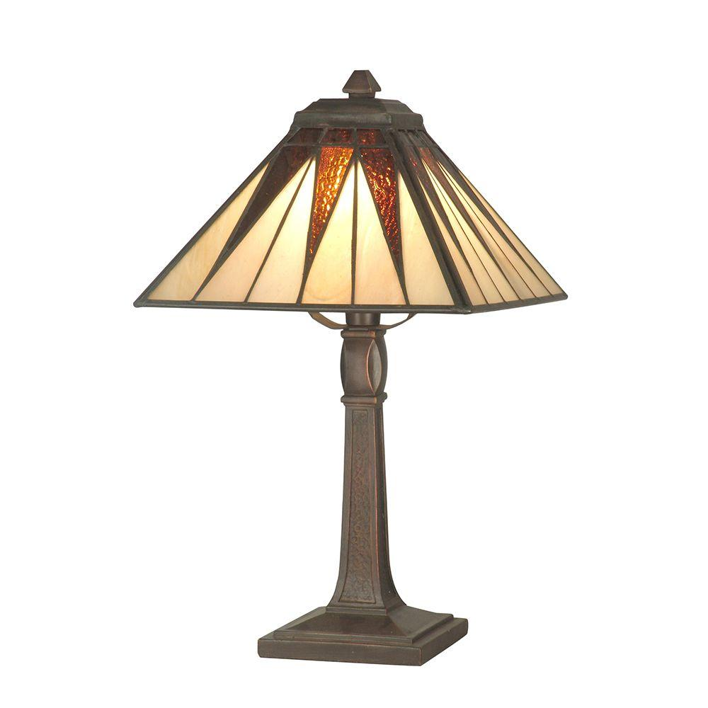 Dale tiffany lamps lighting the home depot cooper antique bronze accent lamp aloadofball Gallery