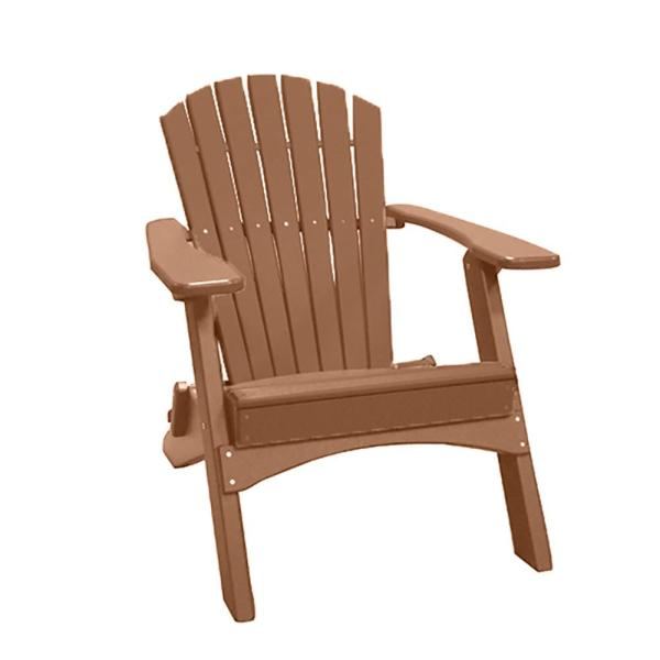 Camel Folding Recycled Poly-Lumber Adirondack Chair