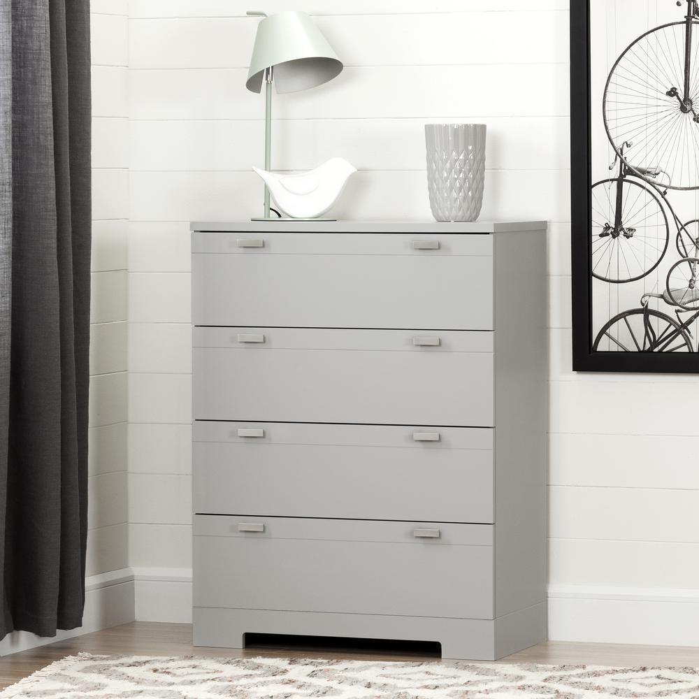Reevo 4-Drawer Soft Gray Chest