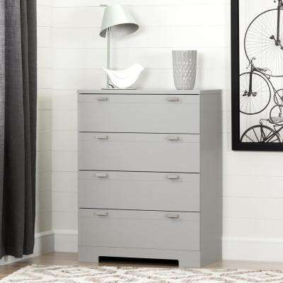 Reevo 4-Drawer Soft Gray Chest
