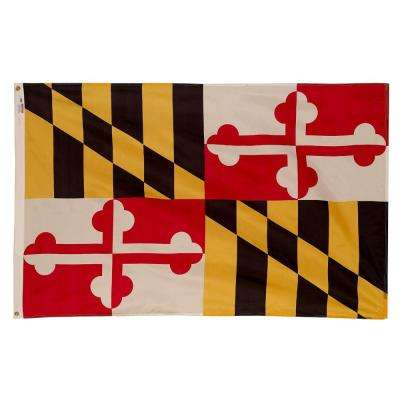 3 ft. x 5 ft. Nylon Maryland State Flag