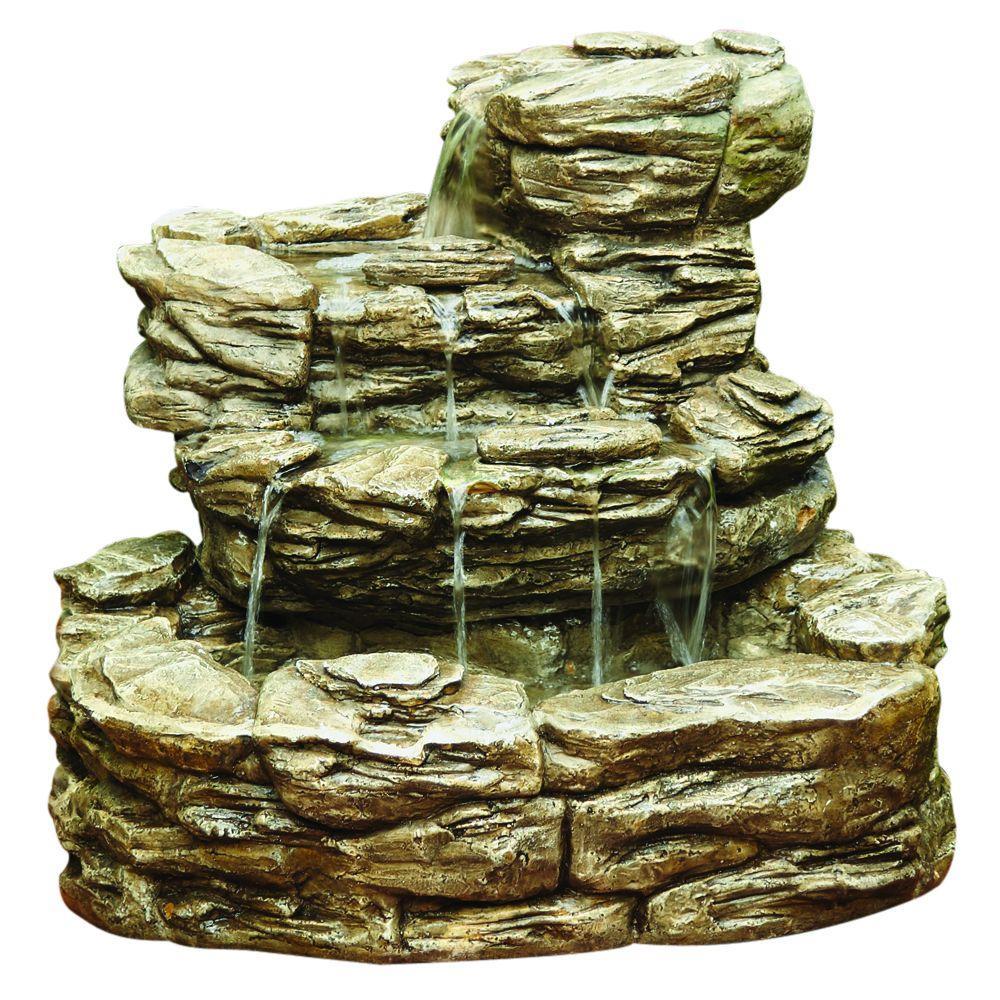 Rock Water Fountains: Hampton Bay Cement Rock Fountain-10856