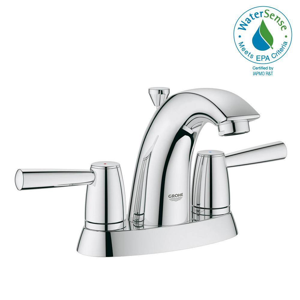 Arden 4 in. Centerset 2-Handle 1.2 GPM Bathroom Faucet in StarLight