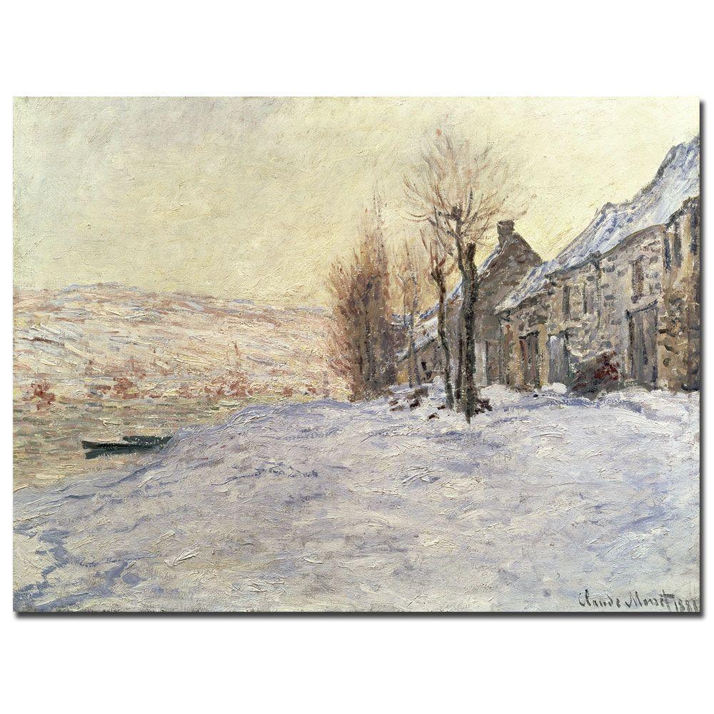 14 in. x 19 in. Lavacourt Under Snow 1878-81 Canvas Art
