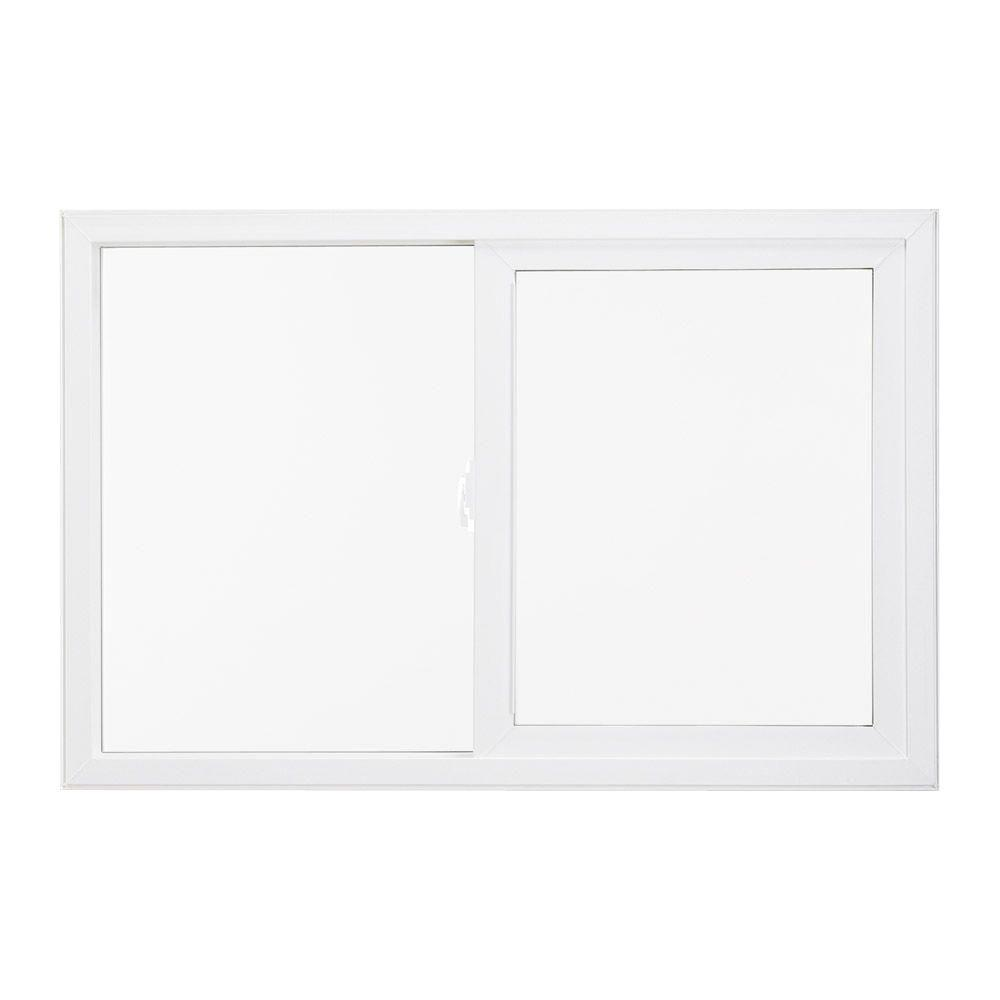 JELD-WEN 47.5 in. x 35.5 in. V-4500 Series Left-Hand Sliding Vinyl Window - White