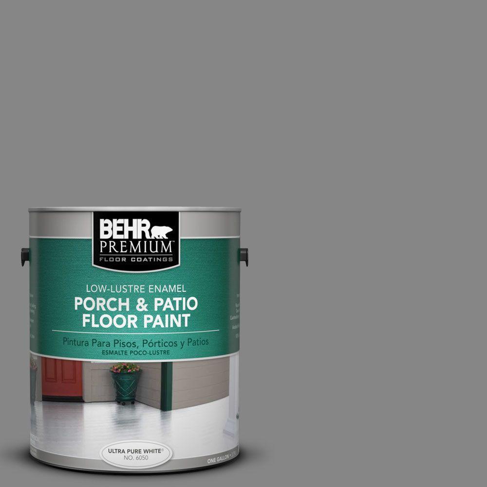 BEHR Premium 1 gal. #PFC-63 Slate Gray Low-Lustre Enamel Interior/Exterior Porch and Patio Floor Paint