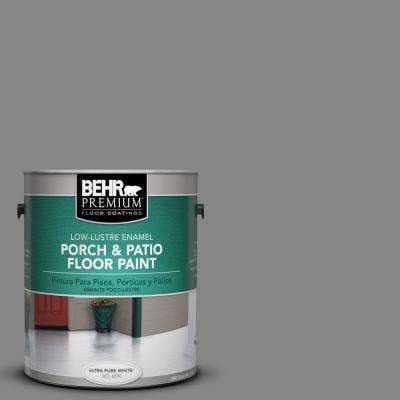 1 Gal. #PFC-63 Slate Gray Low-Lustre Enamel Interior/Exterior Porch and Patio Floor Paint
