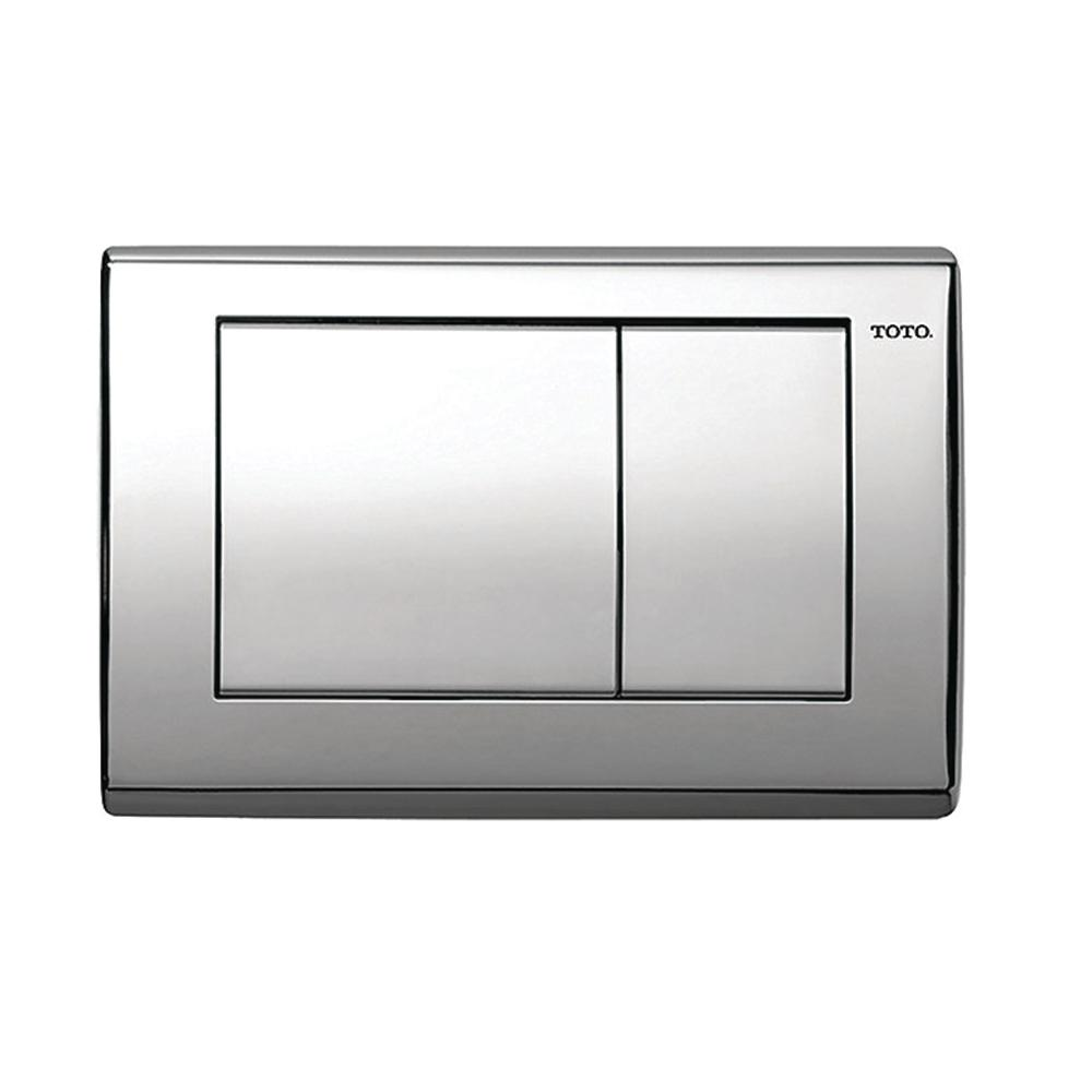 Toto in wall push plate for dual flush toilets in polished for Flush with the wall