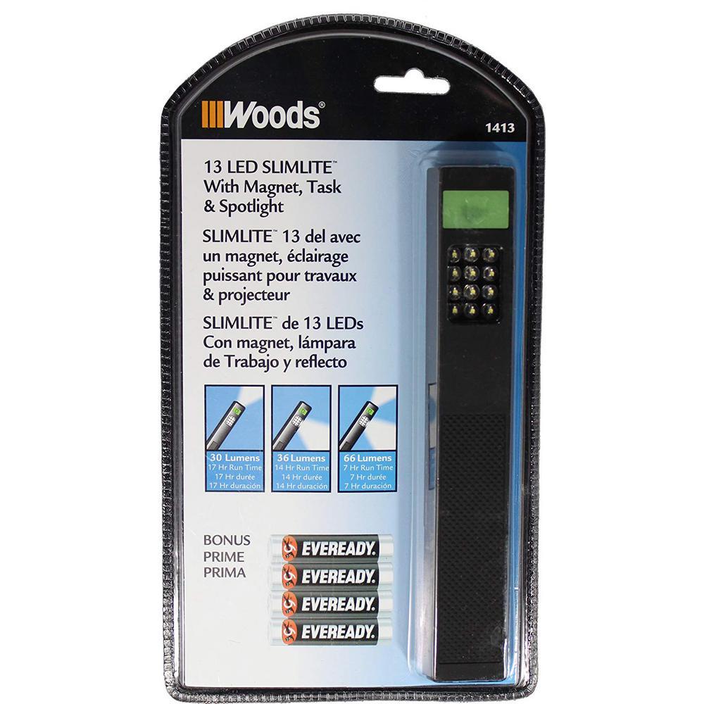 SlimLite 13-LED Battery (4-AAA) Powered Portable Task Work Light