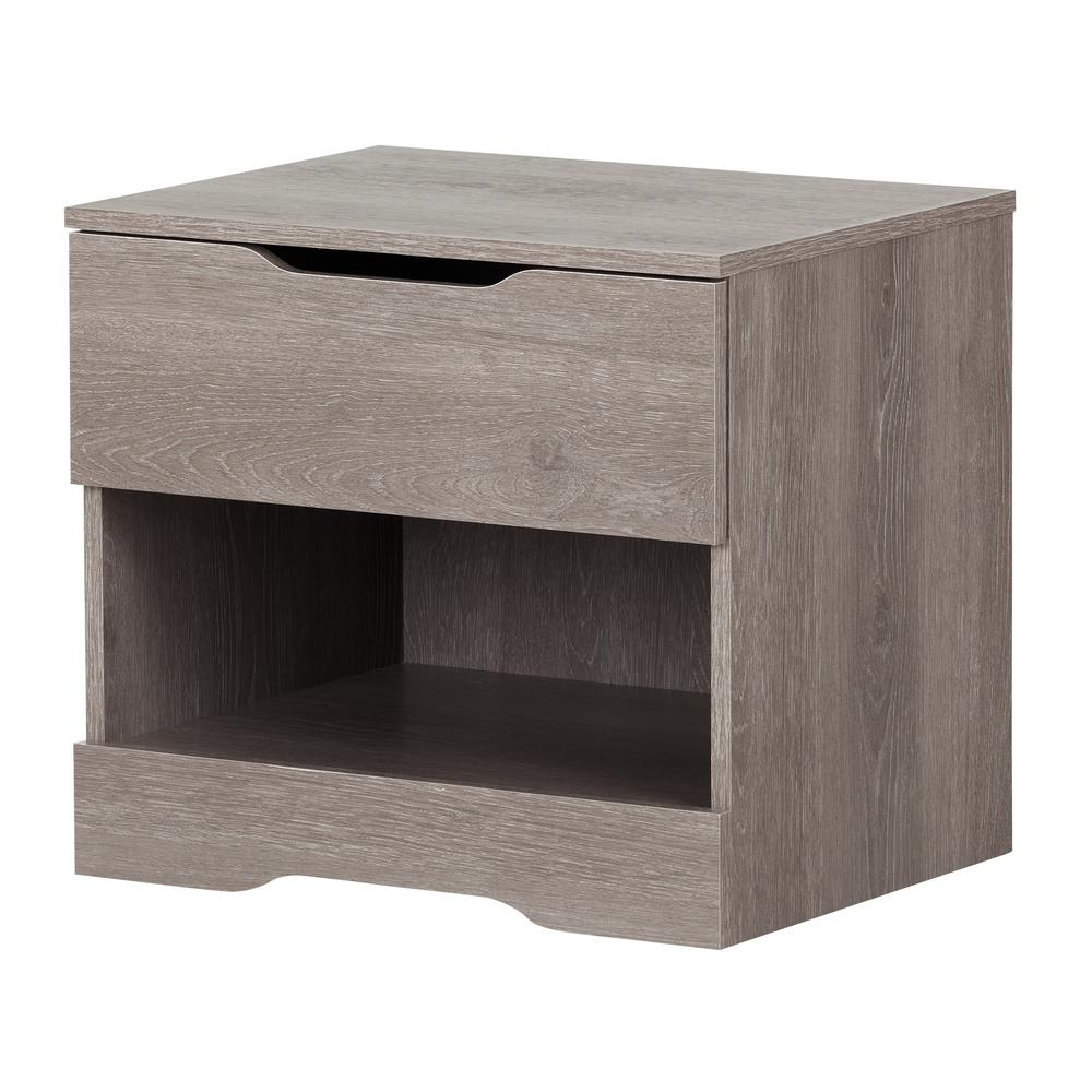 South Shore Holland 1 Drawer Sand Oak Nightstand
