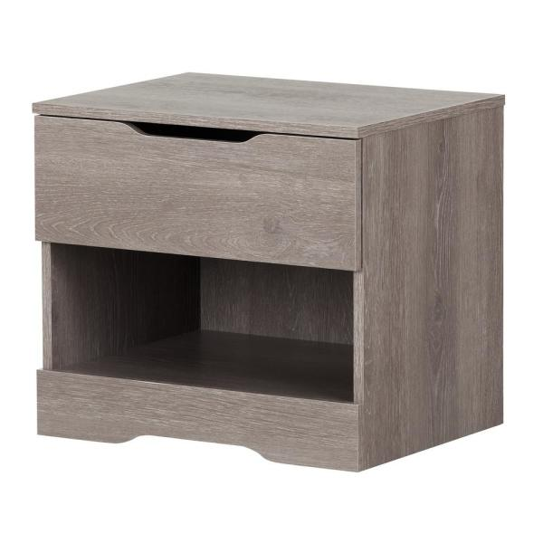 South Shore Holland 1-Drawer Sand Oak Nightstand 11289