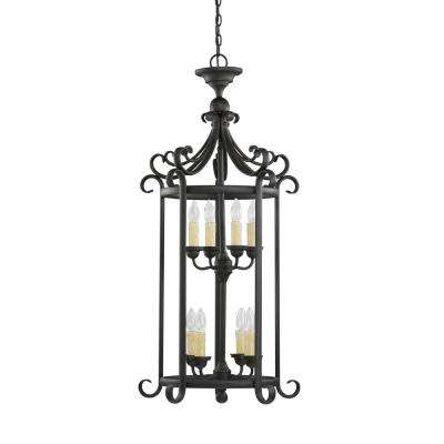 Del Prato 8-Light Chestnut Bronze Hall-Foyer Pendant