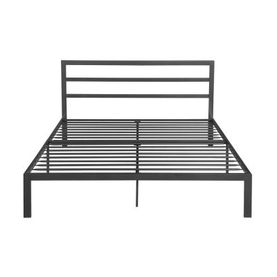 Kellen Contemporary Modern Queen-Size Charcoal Gray Iron Bed Frame