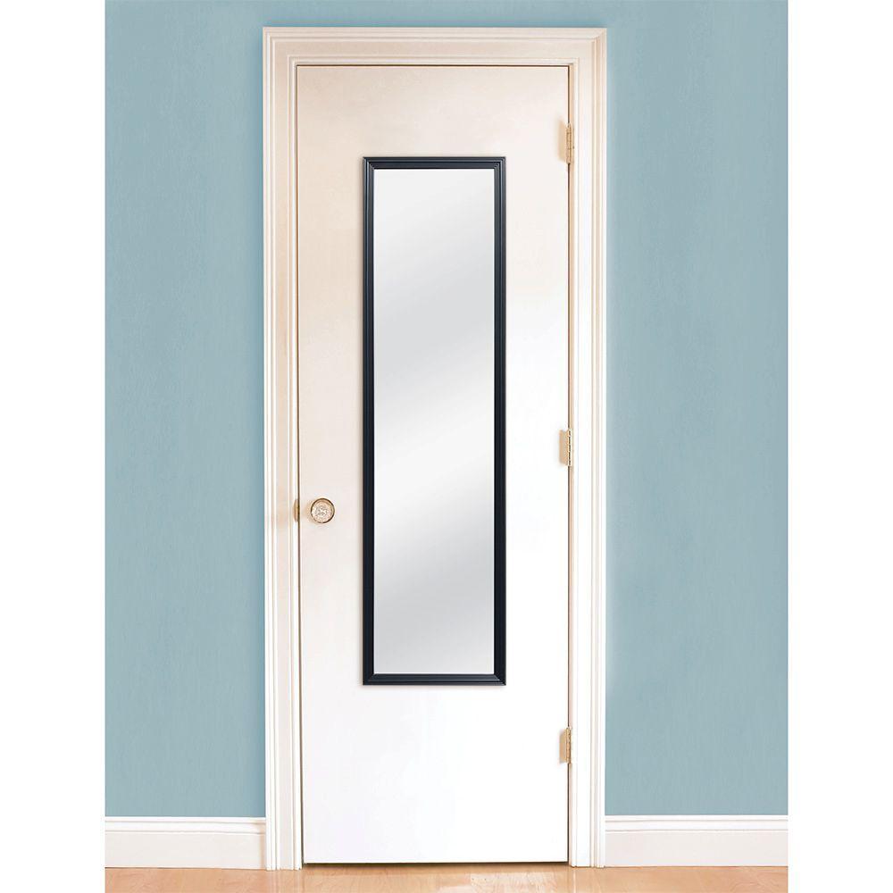 MCS 13.5 in. W x 49.5 in. H Black Door Mirror-72923 - The Home Depot