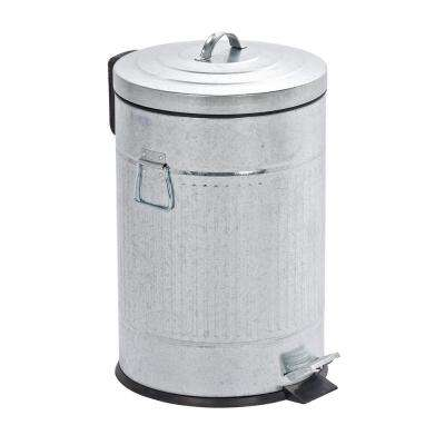 Urban 5.3 Gal. Zinc Plated Easy Close Step on Trash Can