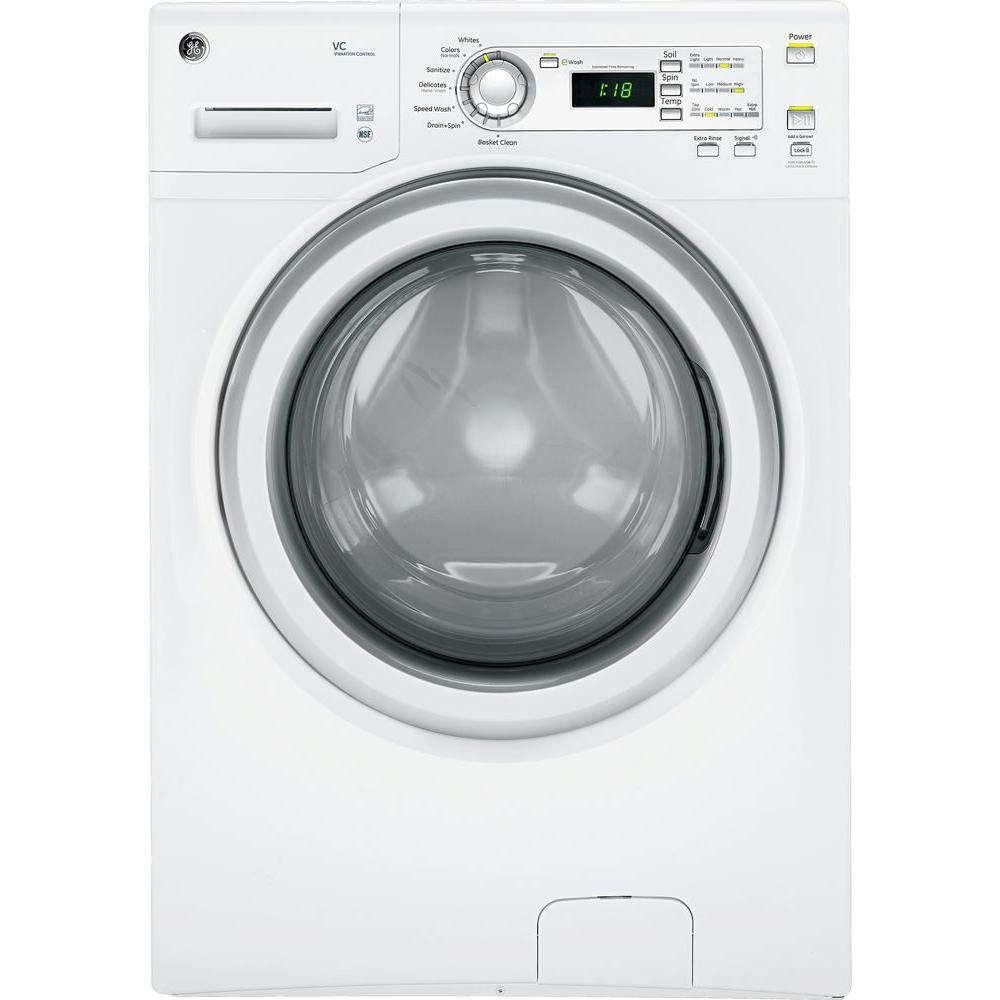GE 3.6 DOE High-Efficiency cu. ft. Front Load Washer in White
