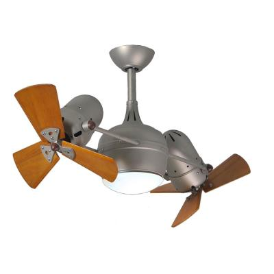 Dagny 38 in. LED Indoor/Outdoor Damp Brushed Nickel Ceiling Fan with Remote Control