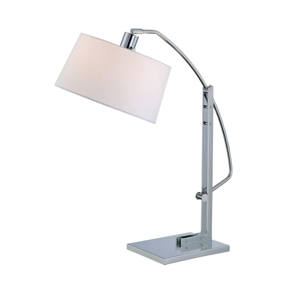 Designer 27.5 in. Chrome Table Lamp