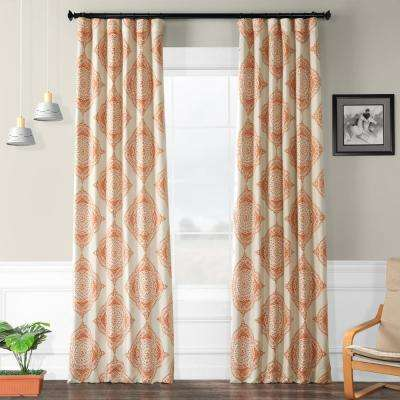 Semi-Opaque Henna Orange Blackout Curtain - 50 in. W x 96 in. L (Panel)