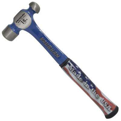 16 oz. Solid Steel Ball Pein Hammer with 12 in. Shock-Resistant Handle