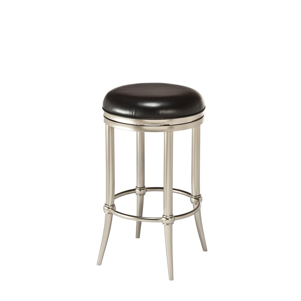 Cadman 26 in. Dull Nickel Swivel Cushioned Counter Stool