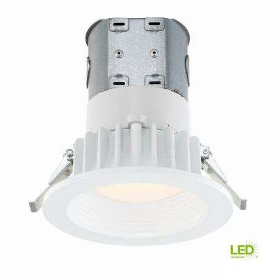 Easy-Up 4 in. White Baffle Integrated LED Recessed Kit at 91 CRI, 3000K, Soft White
