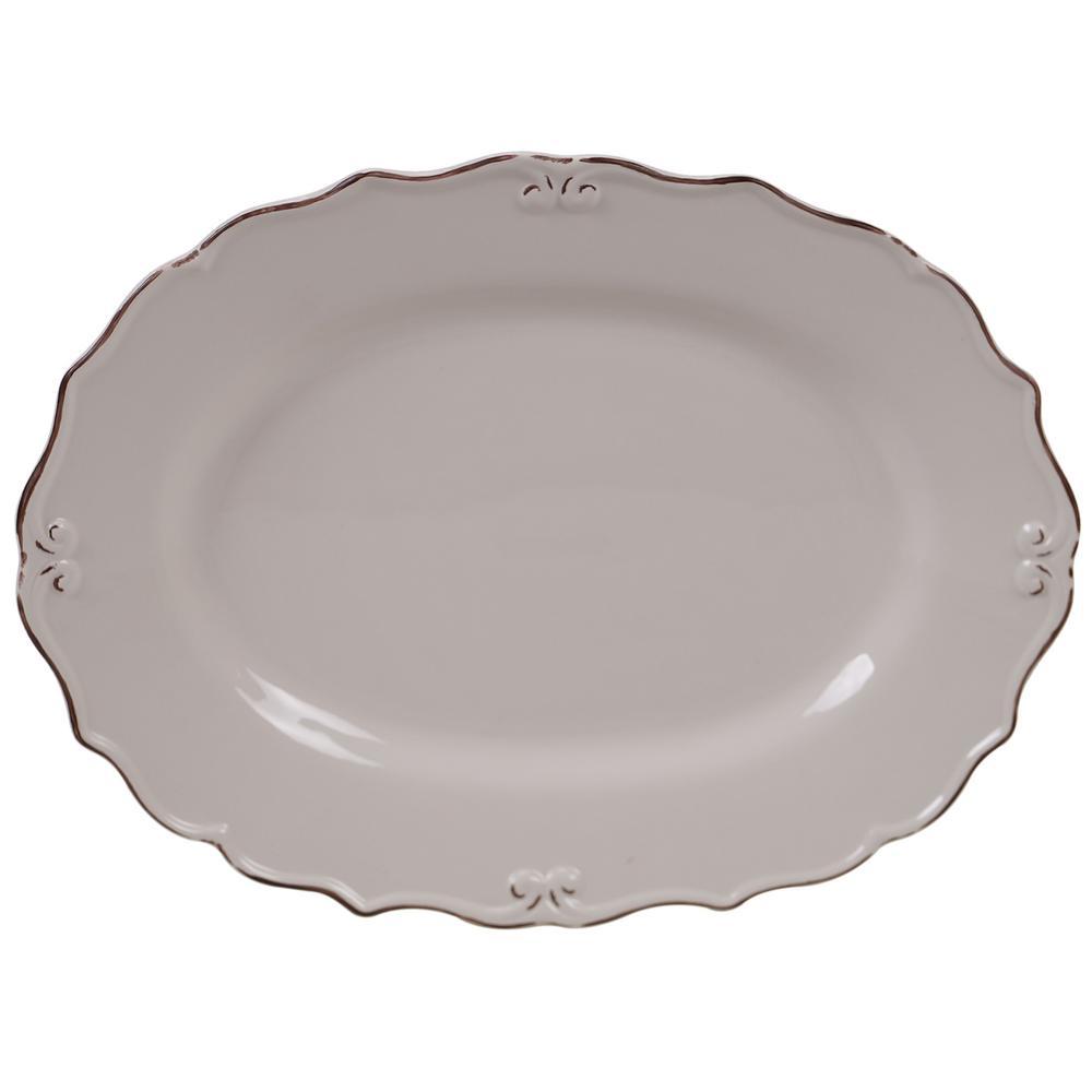 Certified International Vintage Cream Ceramic Oval Platter