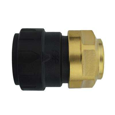 3/4 in. CTS x 1/2 in. NPS Brass ProLock Push-to-Connect Female Connector (5-Pack)