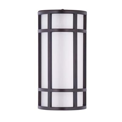 Moon Ray 1-Light Bronze Integrated LED Outdoor Wall Lantern Sconce