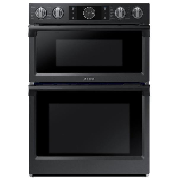 30 in. Electric Steam Cook, Flex Duo Wall Oven Speed Cook Built-In Microwave in Fingerprint Resistant Black Stainless